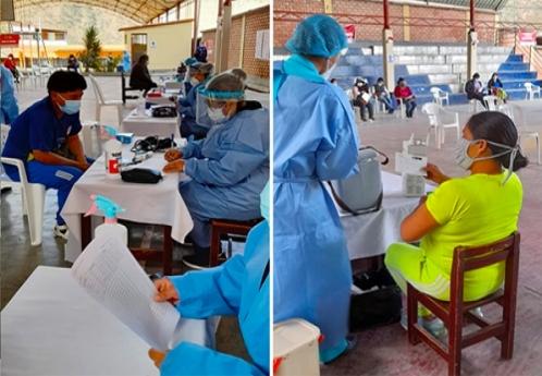 Malestar de ciudadanos por demora en vacunatorio de la IE Nuestra Señora del Rosario